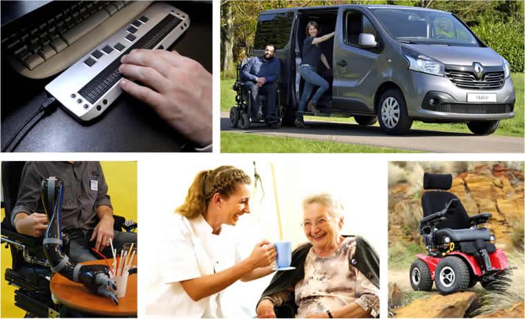 Photos de mat�riels adapt�s : voiture, clavier, fauteuils, etc...